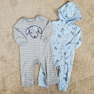 Little Me Baby Boys *SET OF 2* Size 9m Rompers